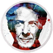 Dustin Hoffman Round Beach Towel by Mihaela Pater