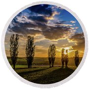 Dutch Moutains At Sunset Round Beach Towel
