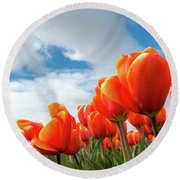 Dutch Tulips Near Keukenhof Round Beach Towel