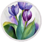 Dutch Tulips Round Beach Towel