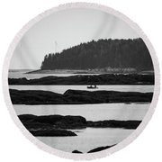 Dwon East Maine  Round Beach Towel by Trace Kittrell