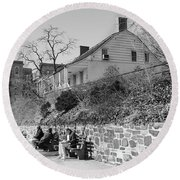 Dyckman Farmhouse  Round Beach Towel