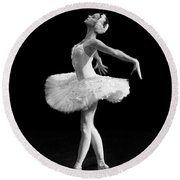 Dying Swan I Alternative Size Round Beach Towel