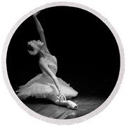 Dying Swan II. Round Beach Towel