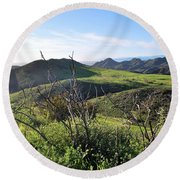 Round Beach Towel featuring the photograph Dynamic California Landscape by Matt Harang