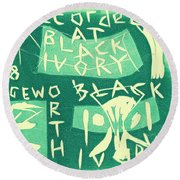 E Cd Green Round Beach Towel