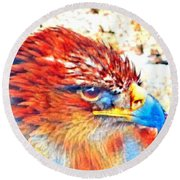 Eagle Art 1  Round Beach Towel