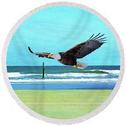 Eagle At Cumberland Round Beach Towel