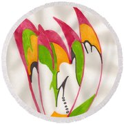 Eagle Feathers Round Beach Towel