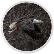 Eagle Fisher Round Beach Towel
