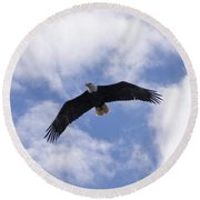 Eagle Flight Round Beach Towel