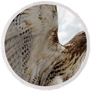 Eagle Going Hunting Round Beach Towel