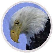 Eagle Head Paint Round Beach Towel