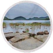 Eagle Lake Acadia National Park Round Beach Towel