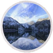 Eagle Lake Dawn Round Beach Towel
