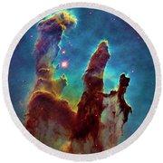Eagle Nebula Round Beach Towel by Paul W Faust - Impressions of Light