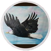 Eagle On A Mission      11 Round Beach Towel