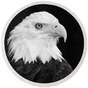 Eagle Portrait Special  Round Beach Towel
