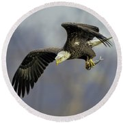 Eagle Power Dive Round Beach Towel
