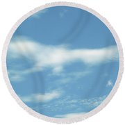 Eagle Rising Round Beach Towel