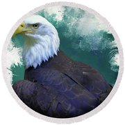 Eagle Round Beach Towel by Suzanne Handel
