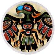 Eagle Symbol 2 Round Beach Towel