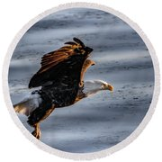 Eagle Vesper Round Beach Towel