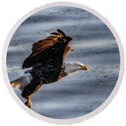 Eagle Vesper Round Beach Towel