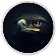 Eagle Round Beach Towel by Zoltan Toth