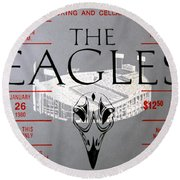 Eagles Concert Ticket 1980 Round Beach Towel