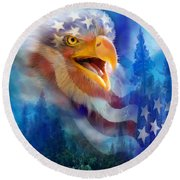 Eagle's Cry Round Beach Towel