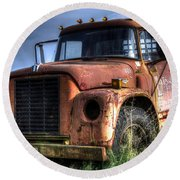 Round Beach Towel featuring the photograph Earl Latsha Lumber Company Version 3 by Shelley Neff