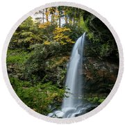 Early Autumn At Dry Falls Round Beach Towel