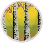 Early Autumn Round Beach Towel