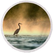 Early Bird Round Beach Towel