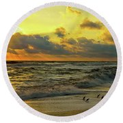 Early Bird Special Round Beach Towel