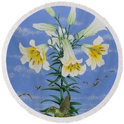 Early Birds Round Beach Towel by Pat Scott