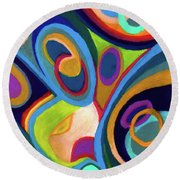 Early Complexities Round Beach Towel