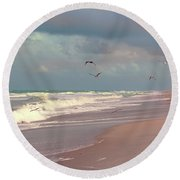 Round Beach Towel featuring the photograph Early Evening by Megan Dirsa-DuBois