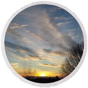 Early Evening Round Beach Towel