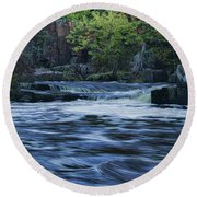 Early Fall At Eau Claire Dells Park Round Beach Towel