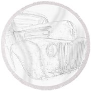 Early Ford Truck Round Beach Towel by Jeffrey Jensen