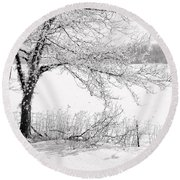 Early Frost Round Beach Towel