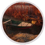 Round Beach Towel featuring the photograph Early In The Morning by Davor Zerjav