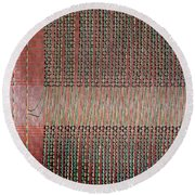 Round Beach Towel featuring the photograph Early Mainframe Art by Rona Black