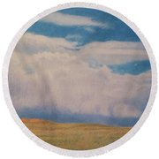 Early May Round Beach Towel