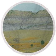 Early May On The Western Edge Round Beach Towel