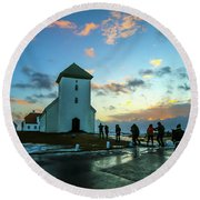 Early Morn In Iceland Round Beach Towel