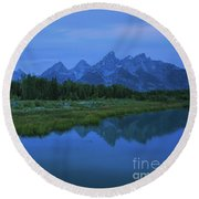 Round Beach Towel featuring the photograph Early Morning Along The Snake River by Sharon Seaward