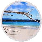 Early Morning At Cockle Creek Round Beach Towel